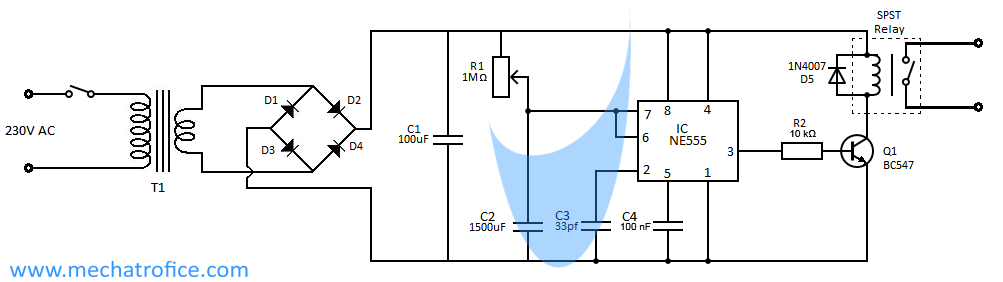 Auto power cut off timer circuitMechatrofice