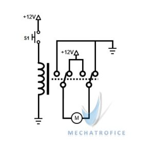 DC Motor Direction Control Using Relay Circuit - Dpdt Relay Animation