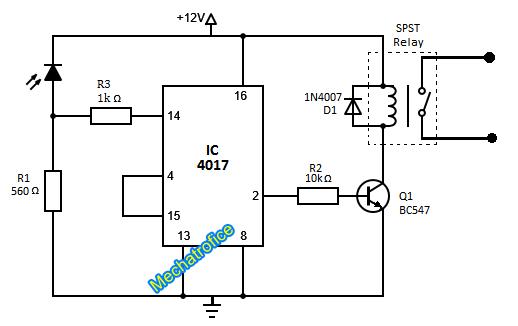 Infrared Receiver Circuit Diagram | Ir Remote Control Circuit Diagram