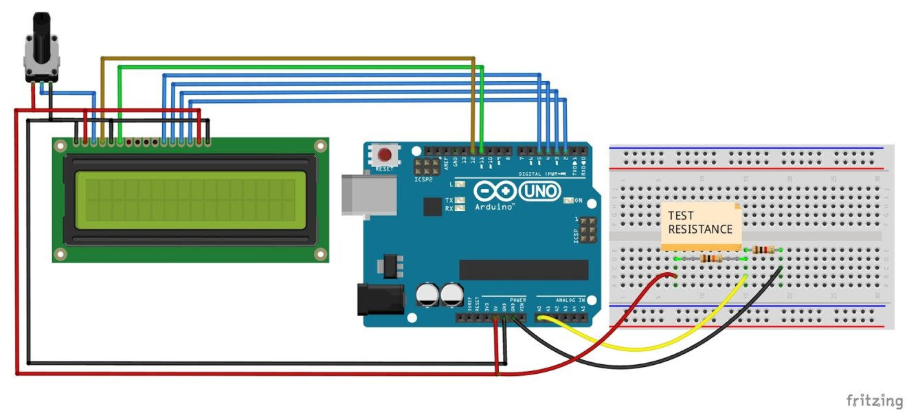 Build A Digital Ohmmeter : Arduino ohmmeter how to make