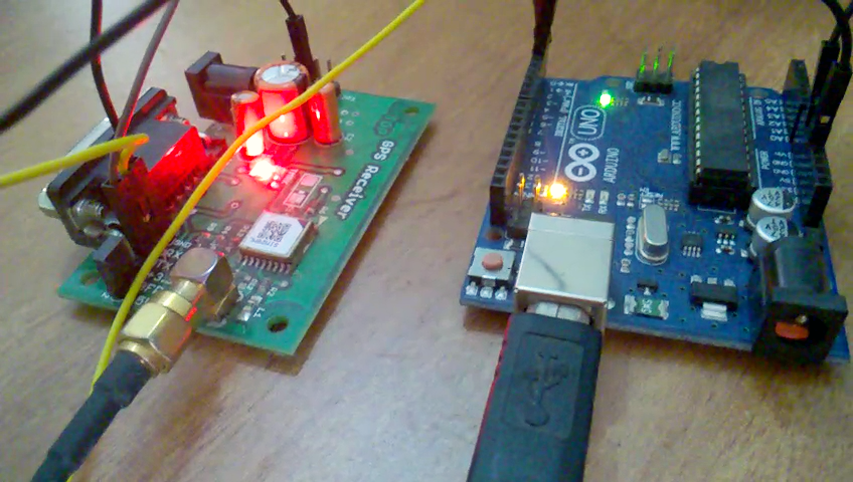GPS receiver using arduino interface and working