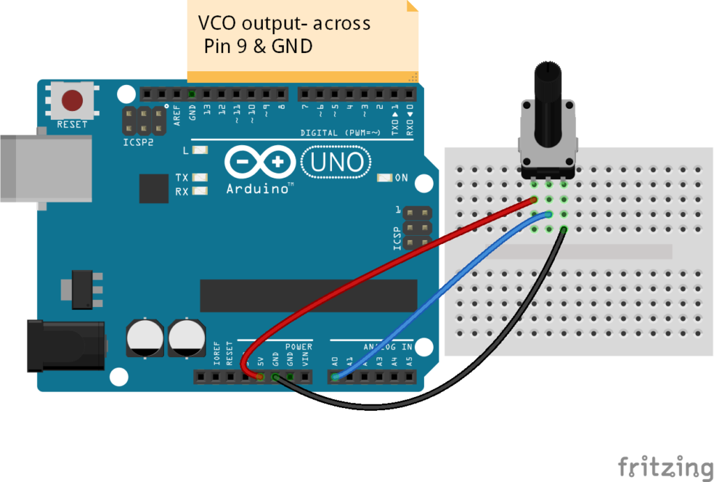 Arduino voltage controlled oscillator vco