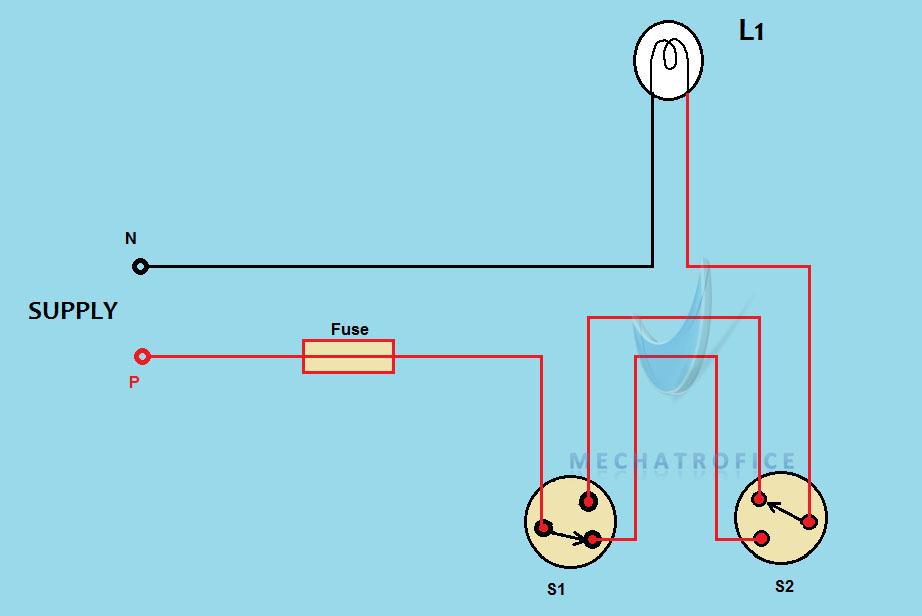 Staircase Wiring circuit diagram & working