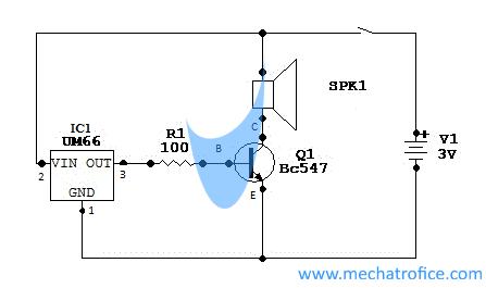 um66 ic melody generator circuit rh mechatrofice com Generator Diagram Generator Diagram