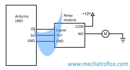 Arduino relay module interface schematics