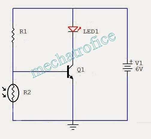 Automatic Light Control Circuit diagram using LDR
