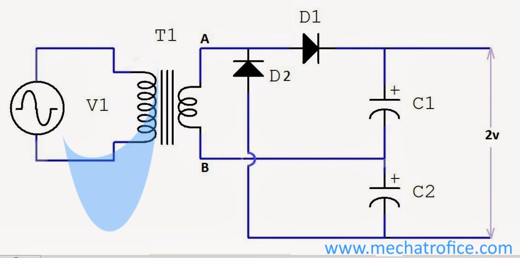 voltage doubler circuit schematic using 555 op amp ac to dc rh mechatrofice com