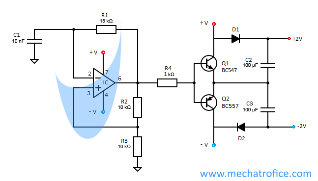 voltage doubler circuit schematic using 555 op amp ac to dc rh mechatrofice com dc voltage doubler schematic max1044 voltage doubler schematic