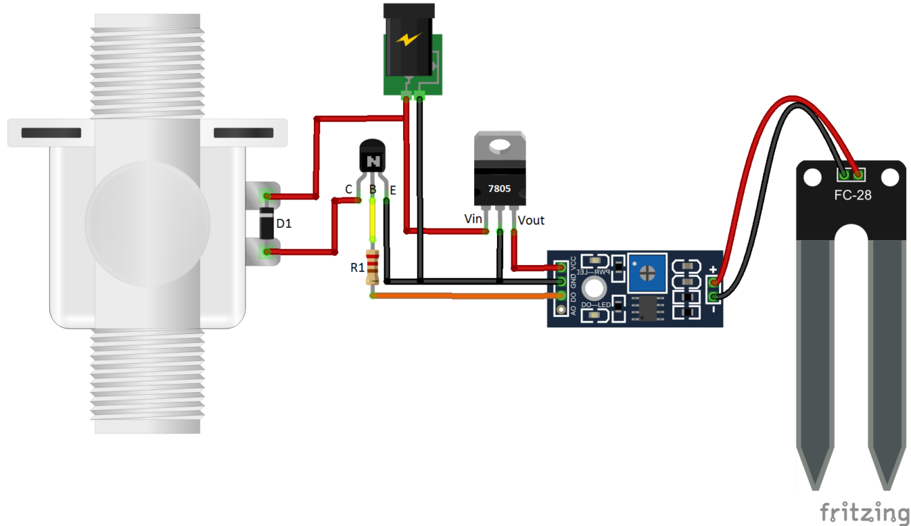 Mechatrofice Its All About Electronics Electrical Simple Touch Switch Using 555 Ic Fc 28 Moisture Sensor Arduino Automatic Watering System
