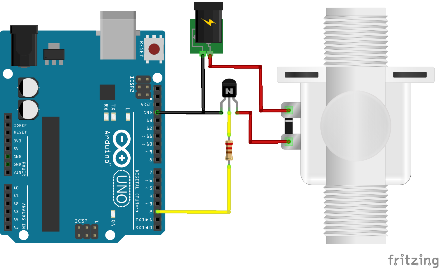 solenoid valve control using arduino