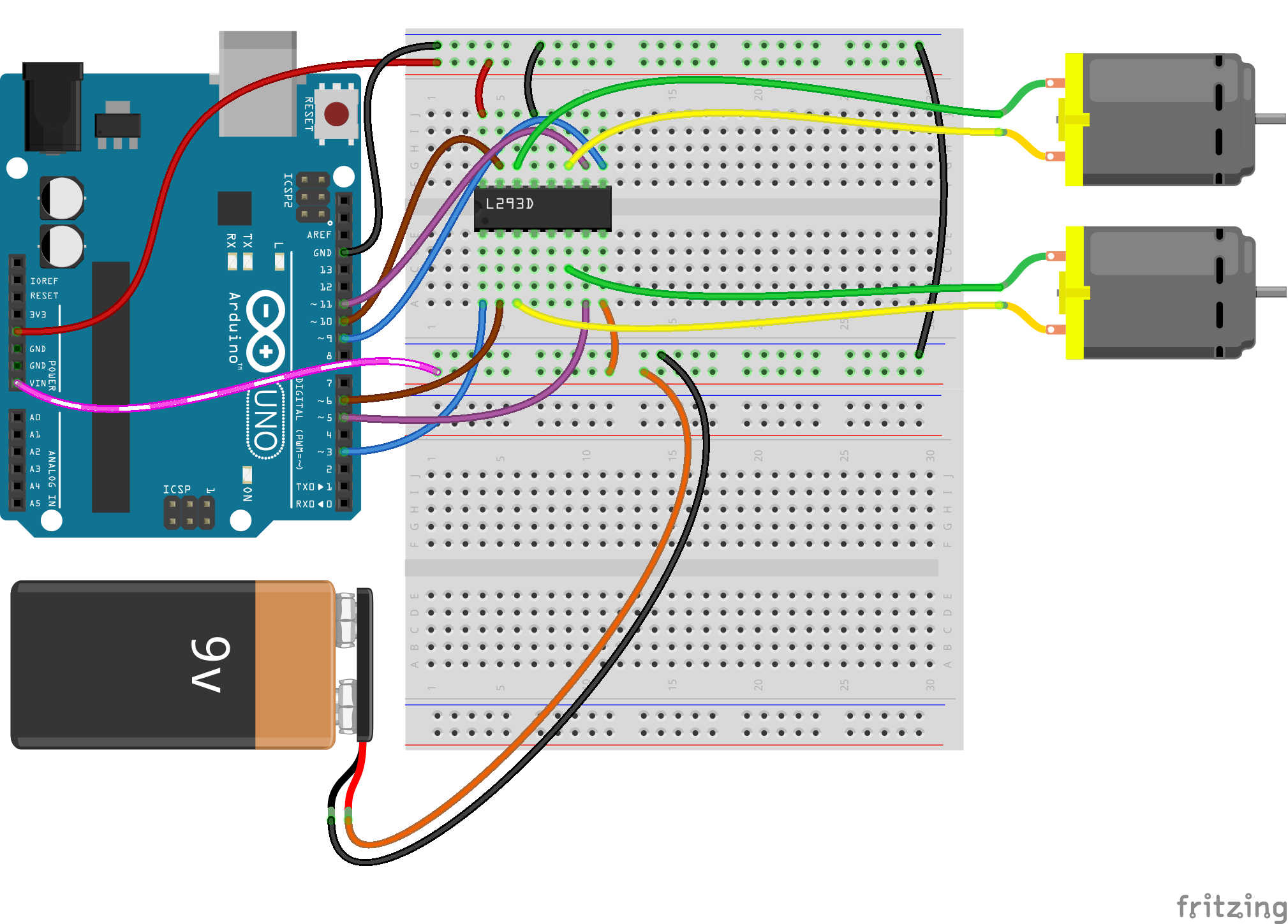Driver connection with arduino